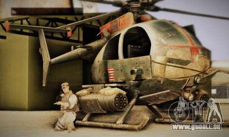 Spec Ops The Line AH6 pour GTA San Andreas laissé vue