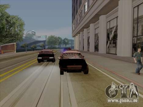 Chevrolet Caprice SFPD 1991 pour GTA San Andreas sur la vue arrière gauche
