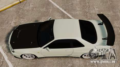 Nissan Skyline GT-R V-Spec II Mk.X [R34] für GTA 4 rechte Ansicht