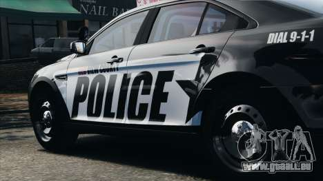 Ford Taurus Police Interceptor 2010 pour GTA 4 est une vue de l'intérieur