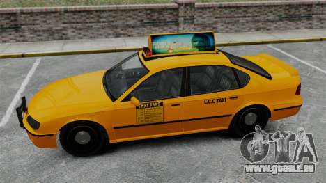 Véritable publicité sur les taxis et les bus pour GTA 4 cinquième écran