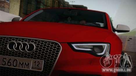 Audi RS5 2012 pour GTA San Andreas vue de droite