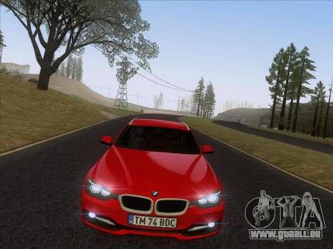BMW 3 Touring F31 2013 pour GTA San Andreas vue de droite