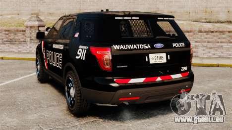 Ford Explorer 2013 Utility - Slicktop [ELS] für GTA 4 hinten links Ansicht