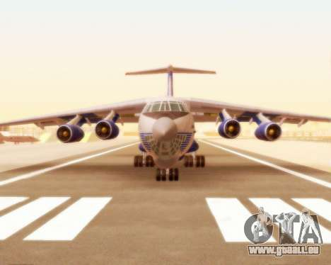 Il-76td Silk Way für GTA San Andreas linke Ansicht