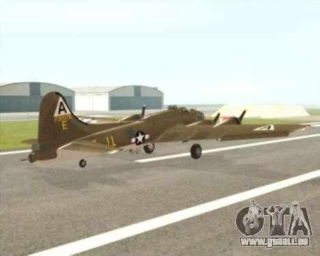 B-17G für GTA San Andreas rechten Ansicht