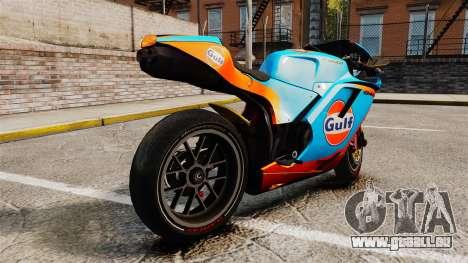 Ducati 848 Gulf pour GTA 4 est une gauche