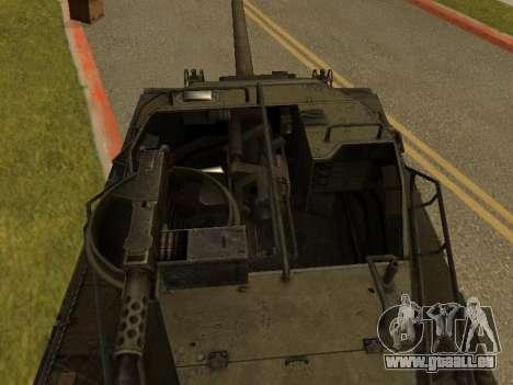 M18-Hellcat für GTA San Andreas Rückansicht