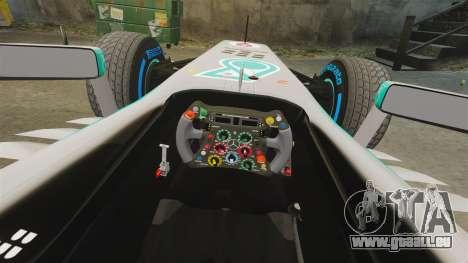 Mercedes AMG F1 W04 v3 für GTA 4 Innenansicht