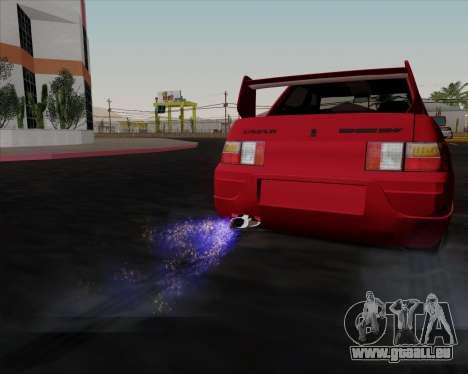 VAZ 2110 pour GTA San Andreas vue de dessus