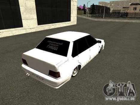VAZ 2115 pour GTA San Andreas vue arrière
