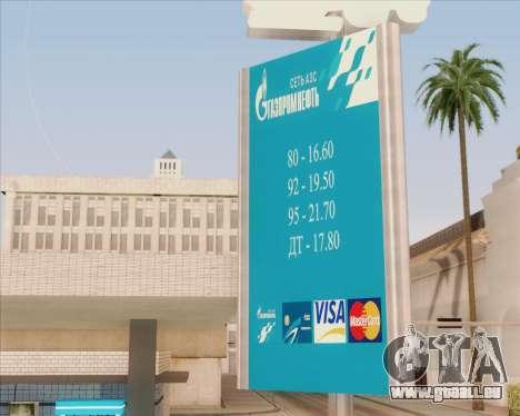 AZS Gazprom Neft pour GTA San Andreas deuxième écran