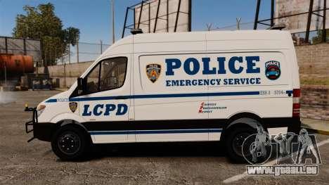 Mercedes-Benz Sprinter 3500 Emergency Response pour GTA 4 est une gauche