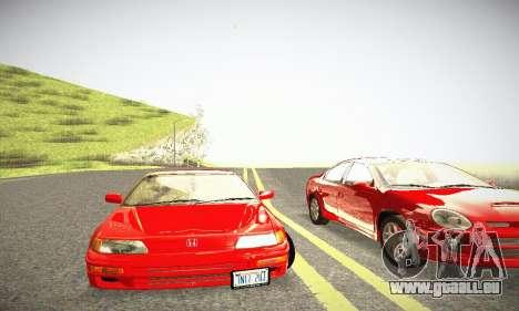 Honda CRX - Stock für GTA San Andreas Innenansicht