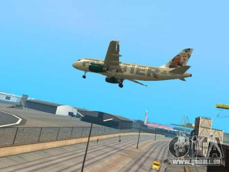 Airbus A319-111 Frontier Airlines Red Foxy für GTA San Andreas Rückansicht