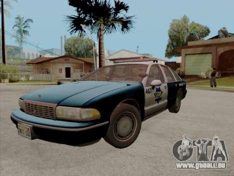 Chevrolet Caprice SFPD 1991 pour GTA San Andreas