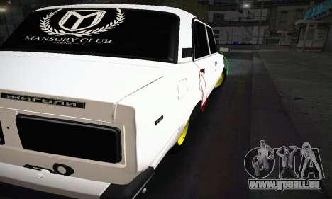 BUNKER VAZ 2107 pour GTA San Andreas vue de droite