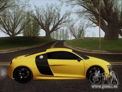 Audi R8 V10 Plus für GTA San Andreas zurück linke Ansicht