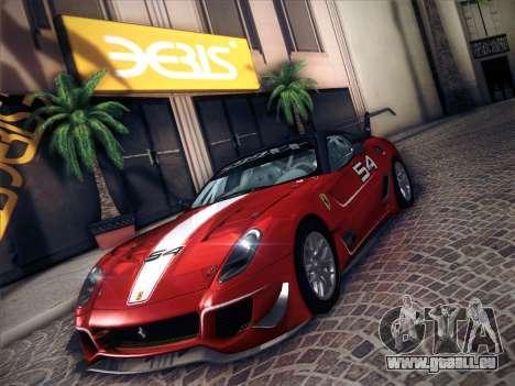 Ferrari 599XX 2012 für GTA San Andreas Rückansicht