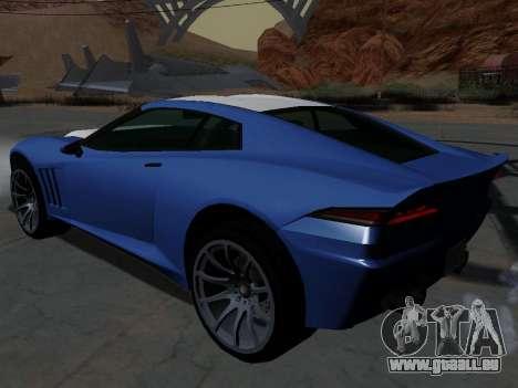 Coquette de GTA 5 pour GTA San Andreas laissé vue