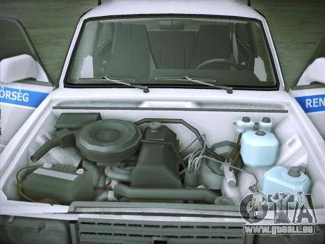 Lada 2107 Rendőrség pour GTA San Andreas vue intérieure