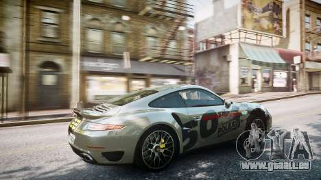 Porsche 911 Turbo 2014 pour GTA 4 vue de dessus