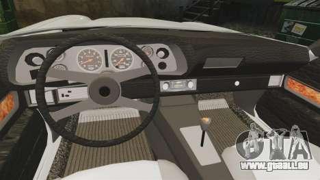 Chevrolet Camaro Z28 1970 v1.1 pour GTA 4 est une vue de l'intérieur