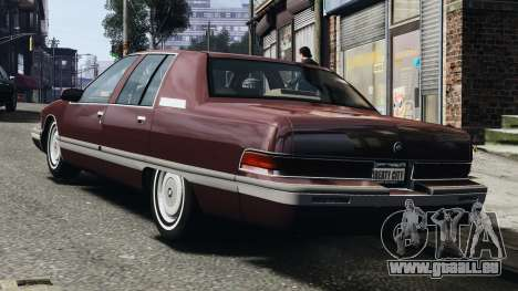 Buick Roadmaster 1996 pour GTA 4 est un droit