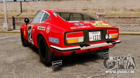 Datsun 240Z 1971 East African Safari pour GTA 4 Vue arrière de la gauche