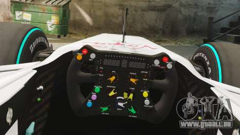 Brawn BGP 001 2009 für GTA 4 Rückansicht