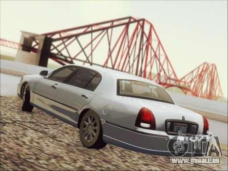 Lincoln Town Car 2010 für GTA San Andreas Unteransicht