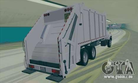 GMC C550 Topkick Trashmaster für GTA San Andreas zurück linke Ansicht