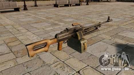 Mitrailleuse Kalachnikov pour GTA 4 secondes d'écran