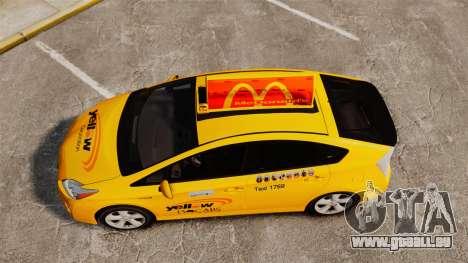 Toyota Prius 2011 Adelaide Yellow Taxi für GTA 4 rechte Ansicht