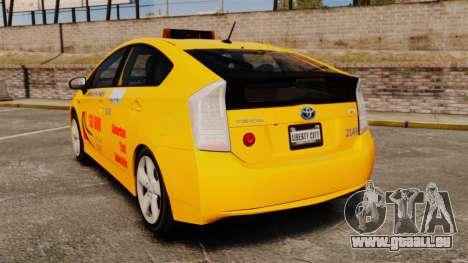 Toyota Prius 2011 Adelaide Taxi für GTA 4 hinten links Ansicht