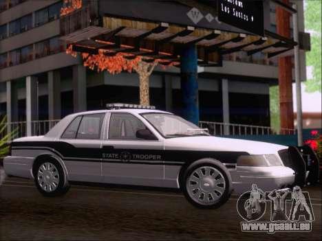 Ford Crown Victoria San Andreas State Trooper für GTA San Andreas Rückansicht