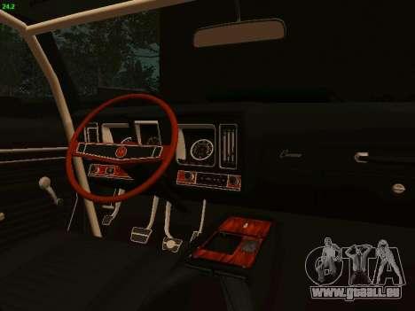Chevrolet Camaro z28 Falken edition für GTA San Andreas Rückansicht