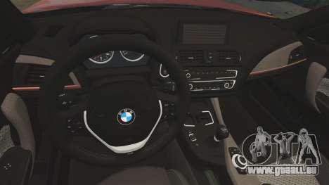 BMW M135i 2013 pour GTA 4 Vue arrière