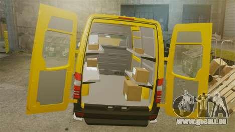 Mercedes-Benz Sprinter 2500 Delivery Van 2011 für GTA 4 Innenansicht