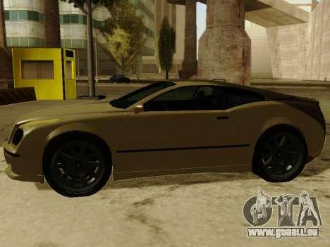 Cognocsenti Cabrio de GTA 5 pour GTA San Andreas vue arrière