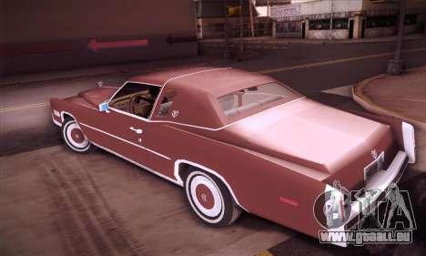 Cadillac Eldorado 1978 Coupe pour GTA San Andreas laissé vue