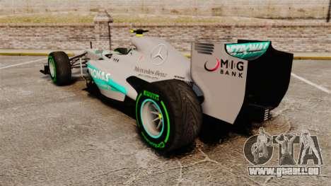Mercedes AMG F1 W04 v4 pour GTA 4 Vue arrière de la gauche