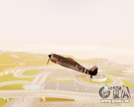 Focke-Wulf FW-190 A5 für GTA San Andreas Innenansicht