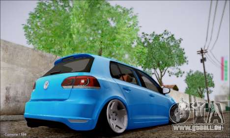 Volkswagen mk6 Stance Work pour GTA San Andreas sur la vue arrière gauche