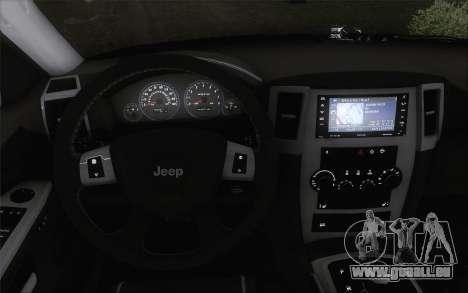 Jeep Cherokee SRT8 pour GTA San Andreas sur la vue arrière gauche