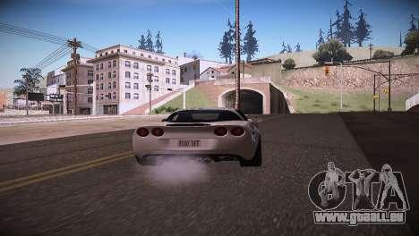 Chevrolet Corvette pour GTA San Andreas sur la vue arrière gauche