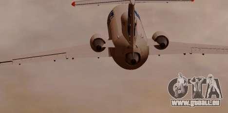 Yak-42 d UTair pour GTA San Andreas vue de droite
