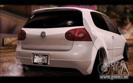 Volkswagen Golf MK5 Lowstance für GTA San Andreas linke Ansicht