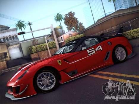 Ferrari 599XX 2012 für GTA San Andreas rechten Ansicht