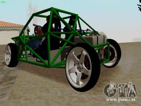 Nocturnal Motorsports Coyote für GTA San Andreas zurück linke Ansicht